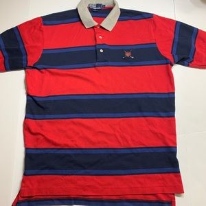 Ralph Lauren 100% cotton polo size large red blue